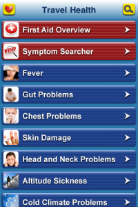 Travel Health iPhone App – First Aid in Your Pocket