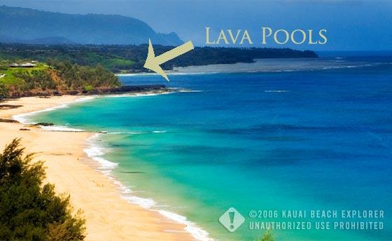 Lava Pools at Secret Beach