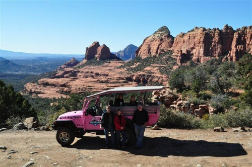 Pink Jeep tour of the hills of Sedona