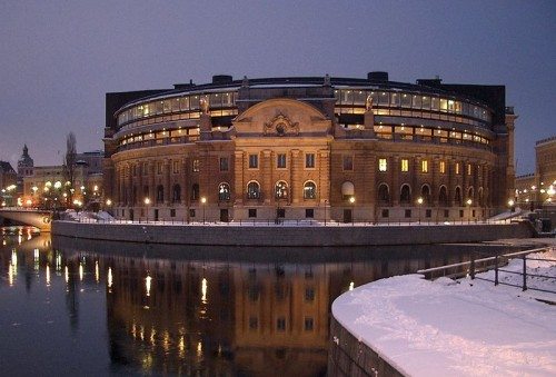 Riksdag, the Swedish equivalent of the Houses of Parliament