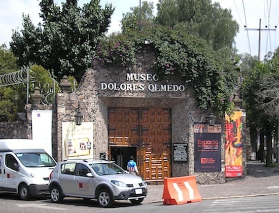 The Museo Dolores Olmedo as seen from the street
