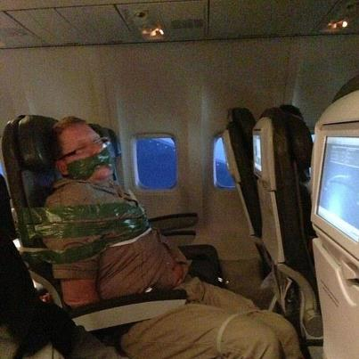 duct taped passenger