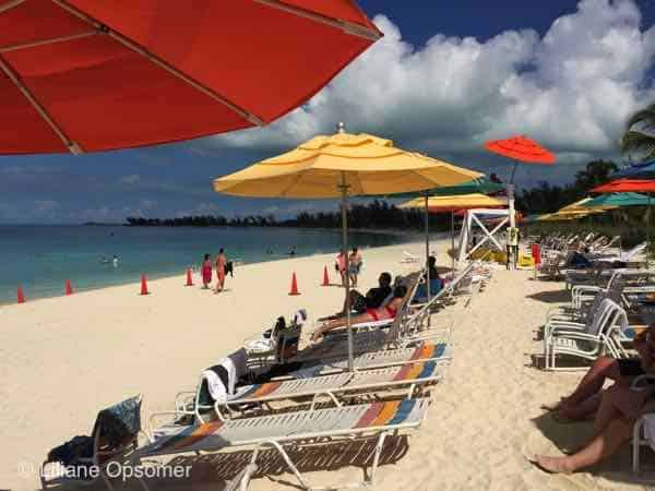 Adult Beach at Castaway Cay