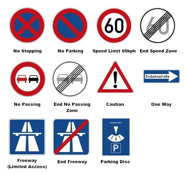 German Road Signs