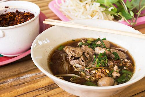 Boat Noodles (Kuay Teow Reua) - Bangkok, Thailand