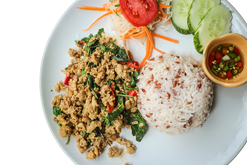 Stir-Fried Pork with Holy Basil (Pad Kra Pao ) - Thailand