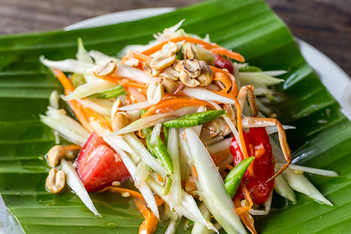 Green Papaya Salad (Som Tam) - Thailand