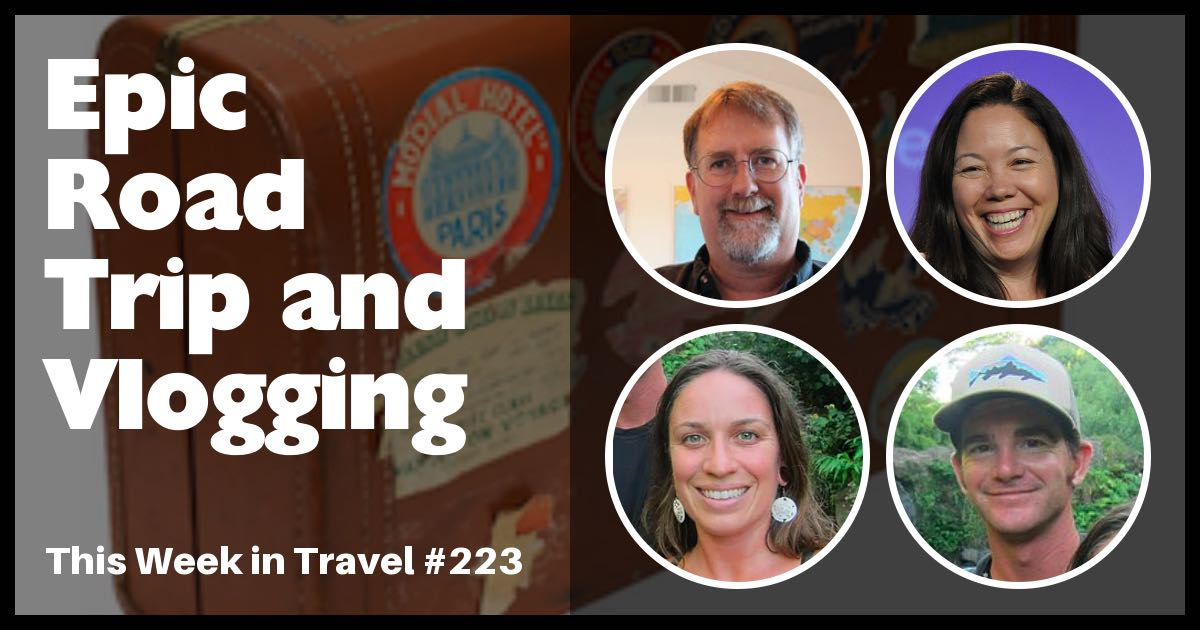 This Week in Travel - Travel News Podcast. Regular hosts Jen Leo and Chris Christensen are joined by this week's guests: Matt andAmie fromthetravelingtogetherjournal.com, which is a video blog (vlog) about their road trip to Panama.