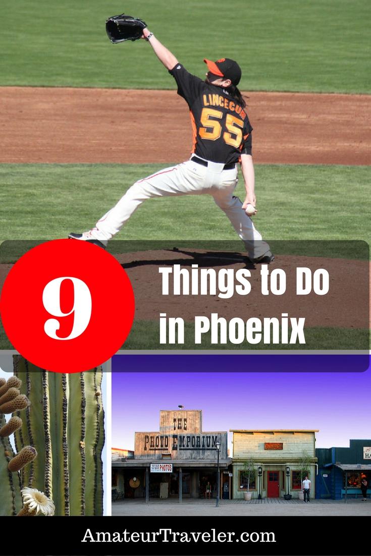 9 Things to Do in the Phoenix Area #arizona #phoenix #travel #trip #vacation #thingstodoin #museum #baseball #planning