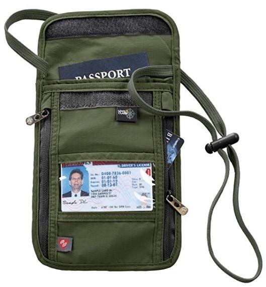 Lewis N. Clark RFID-Blocking Neck Stash Anti-Theft Hidden Wallet