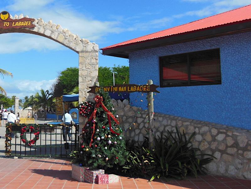 Holiday display in Labadee, Haiti