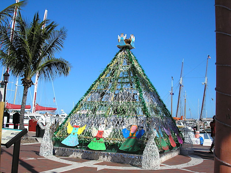 Holiday display in Key West