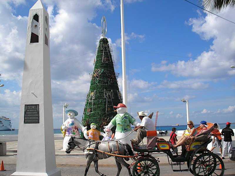 Holiday display in Cozumel, Mexico