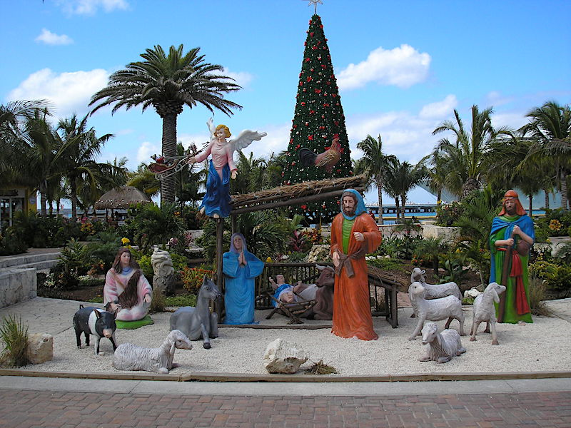 Holiday display in Belize