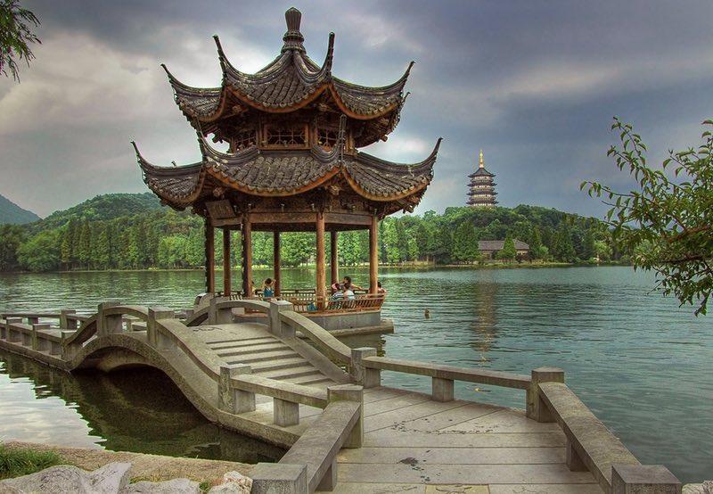 Hangzhou China Lake Bridge