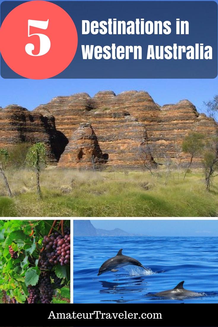 Top 5 Travel Destinations in Western Australia #travel #trip #vacation #australia #western #perth #Exmouth #Bungle-Bungles #Margaret-River #Broome