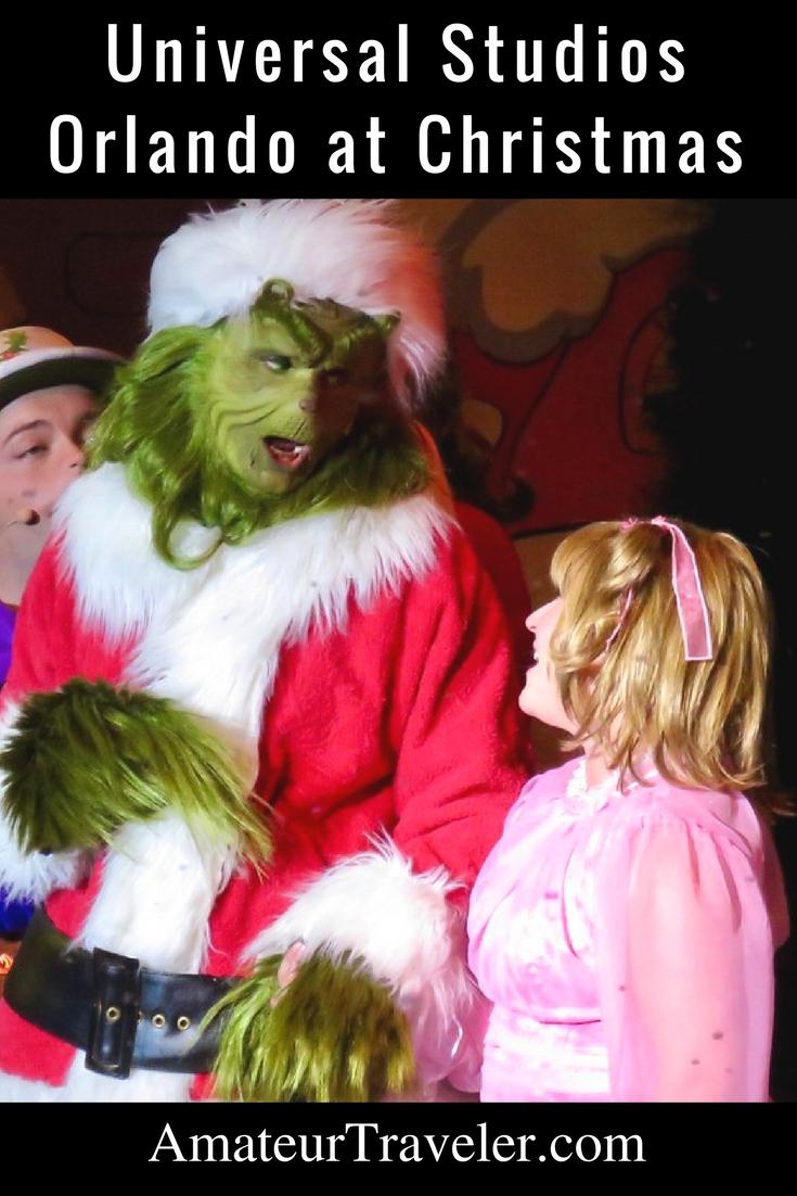 Universal Studios Orlando at Christmas Time