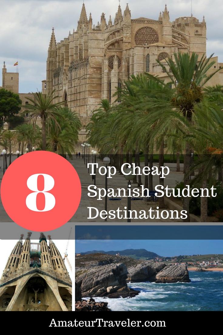 The Top 8 Cheap Spanish Student Destinations -Barcelona, Madrid, Cantabria, Palma de Mallorca, Marbella, Tenerife, Tamariu Ayamonte