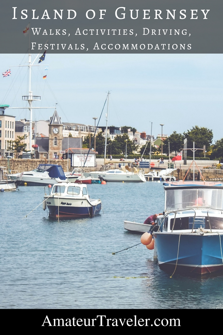 Travel to the Island of Guernsey - Walks, Activities, Driving, Festivals, Accommodations