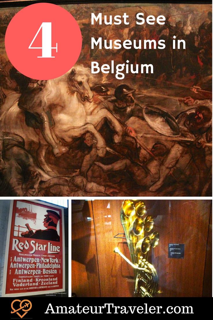 4 Must See Museums in Belgium - Art, Music and History #travel #trip #vacation #belgium #brussels #ieper #flanders #museum #withkids #culture #art #music #antwerp