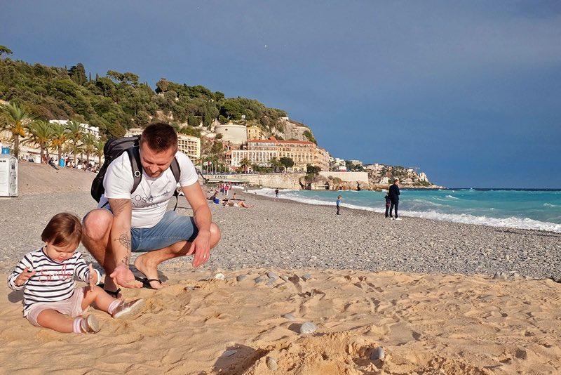 Beach in Nice, France