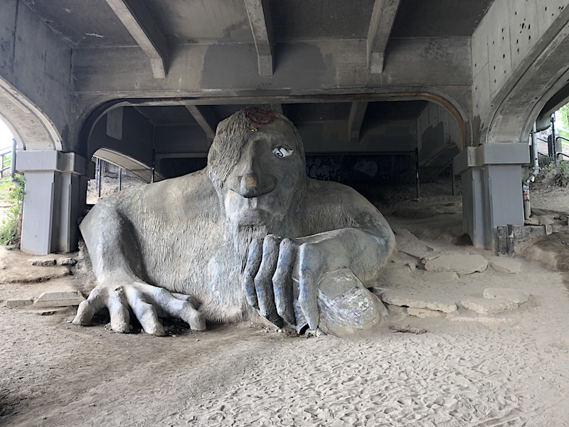 Fremont troll sculpture