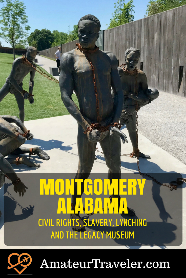 Montgomery, Alabama - Civil Rights, Slavery, Lynching and the Legacy Museum #musuem #civil-rights #montgomery #alabama #slavery #memorial #lynching