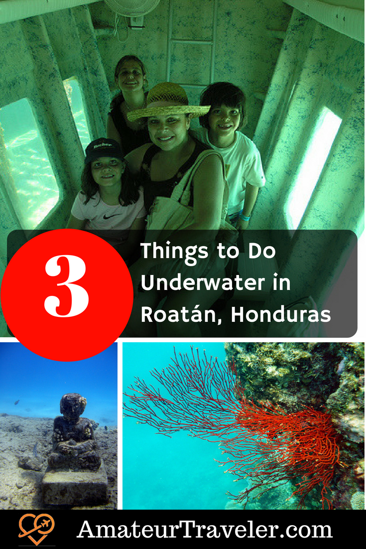 Things to Do Underwater in Roatán, Honduras #travel #honduras #scuba #submarine