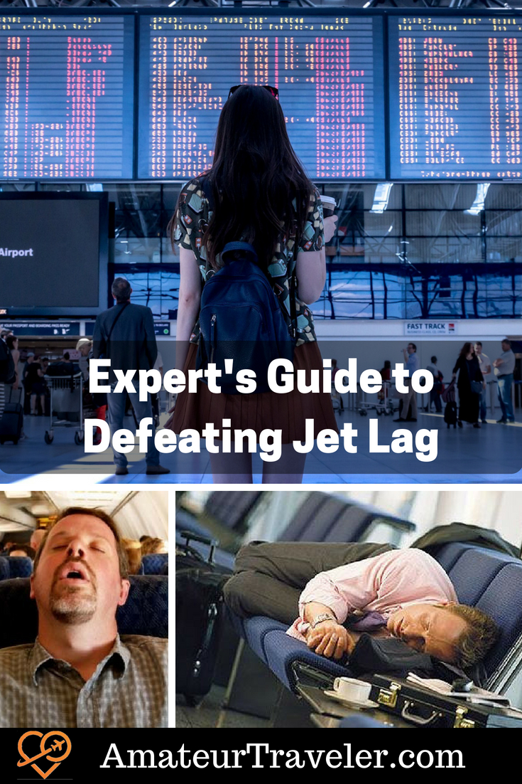 An Expert's Guide to Defeating Jet Lag #travel #airplane #jetlag