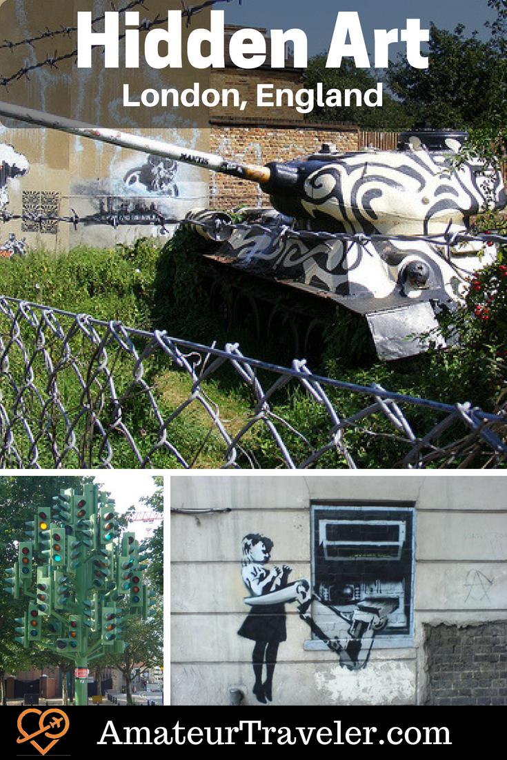Hidden Art in London, England #art #streetart #Britain #England #London