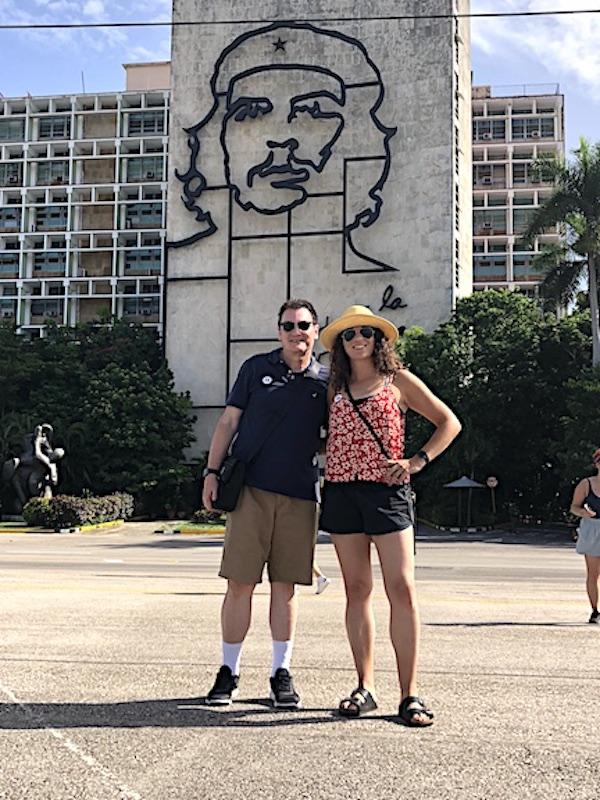 Barry Kramer and daughter, Liz, in Revolution Square