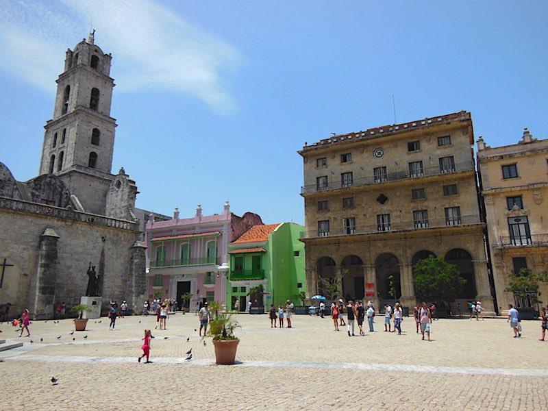 The Plaza de San Francisco in Old Havana