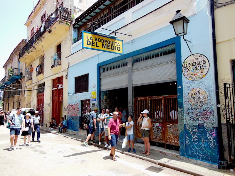 The exterior of La Bodeguita de Media