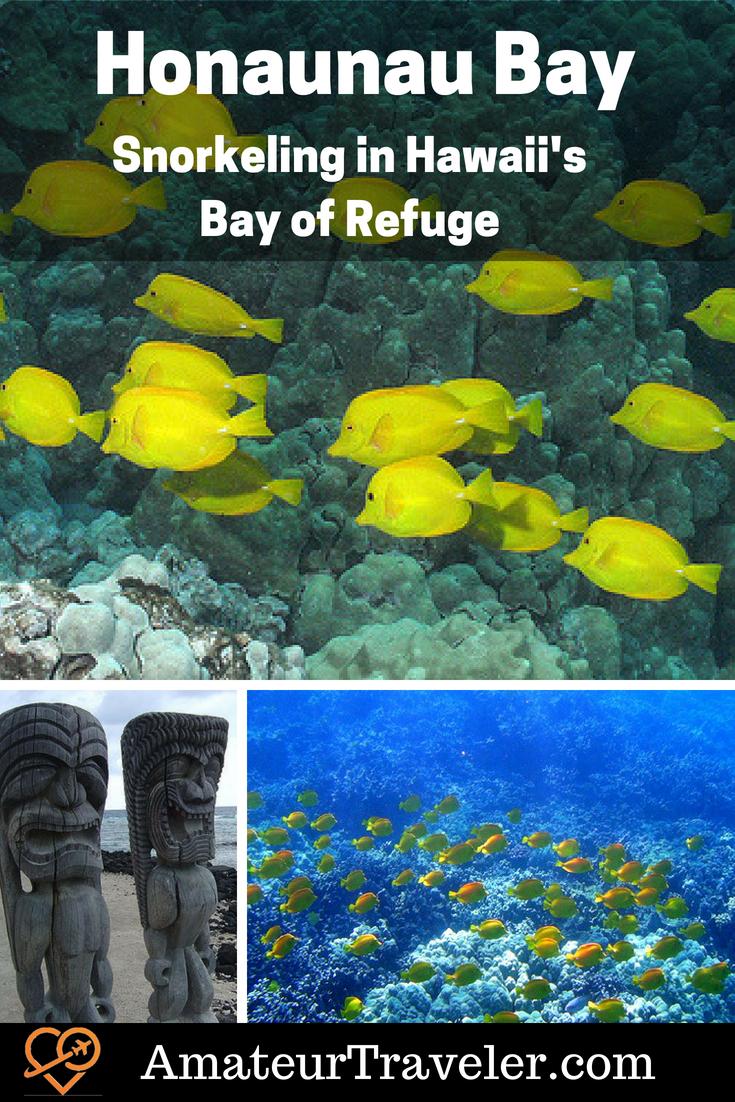 Honaunau Bay - Snorkeling in Hawaii's Bay of Refuge #hawaii #bigisland #travel #snorkel
