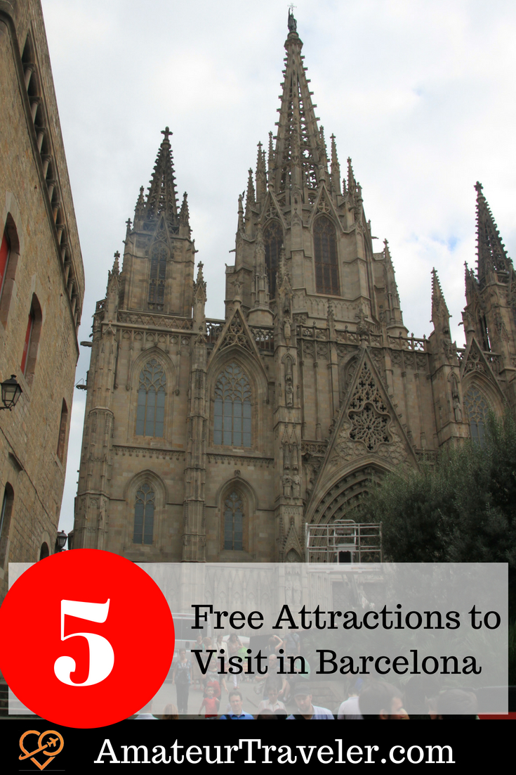 5 Free Attractions to Visit in Barcelona #travel #spain #catalan #barcelona #free #budget