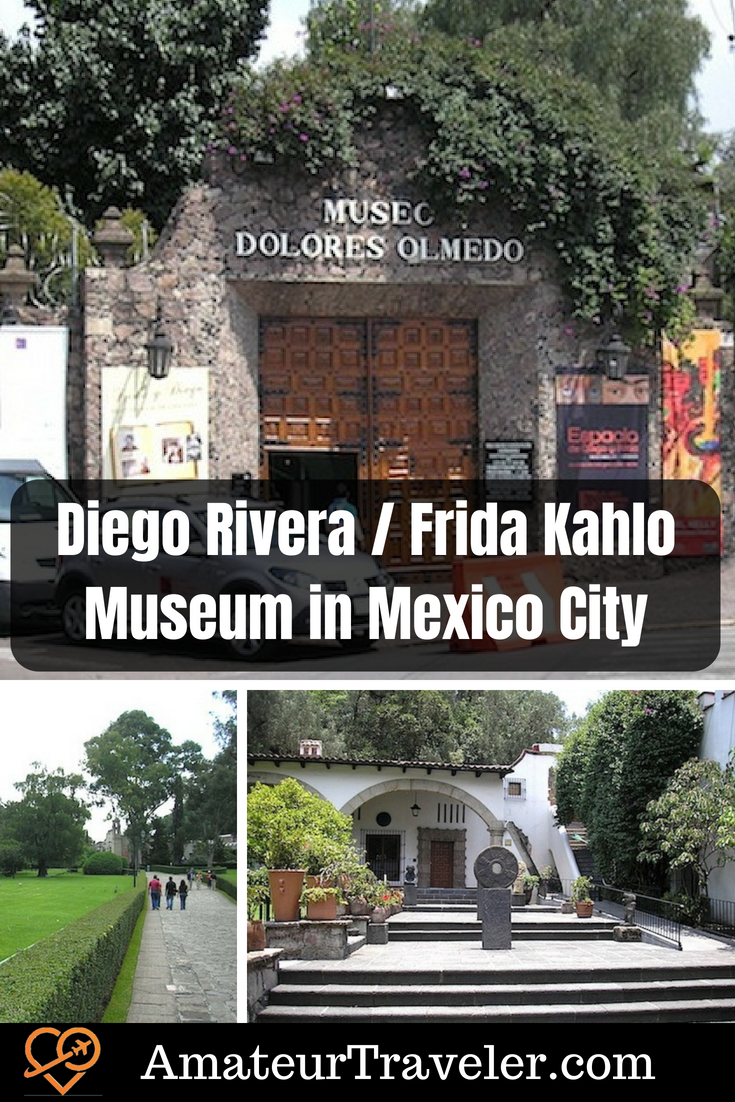 Diego Rivera / Frida Kahlo Museum in Mexico City - The Museo Dolores Olmedo was created by a patron of the two artists in the Xochimilco neighborhood of Mexico City. It is an overlooked museum. #mexico #museum #art #travel