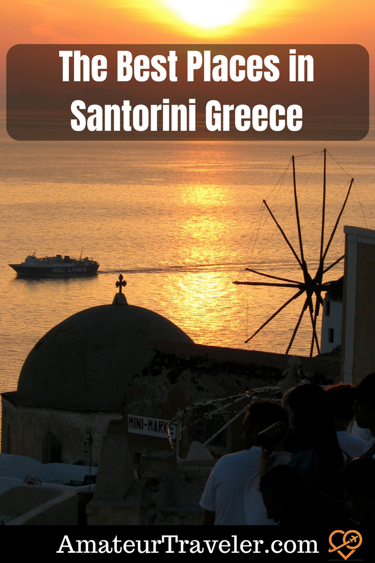 The Best Places in Santorini Greece #travel #greece #santorini #fira #akrotiri #volcano