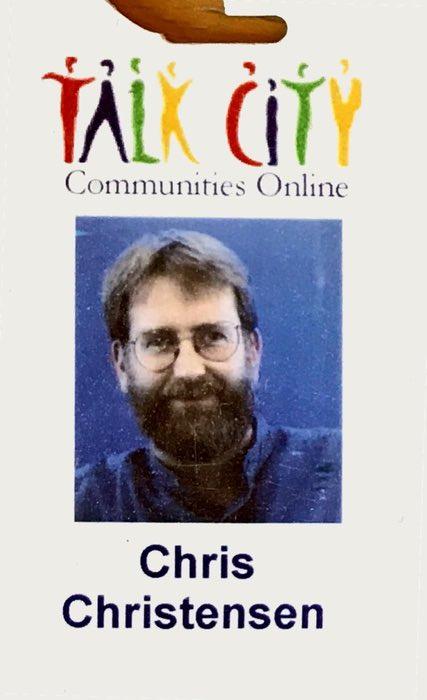 Talk City company badge