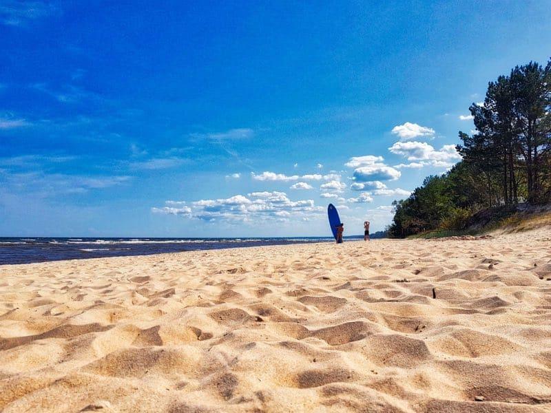 Beach in the Western coast of the Gulf of Riga