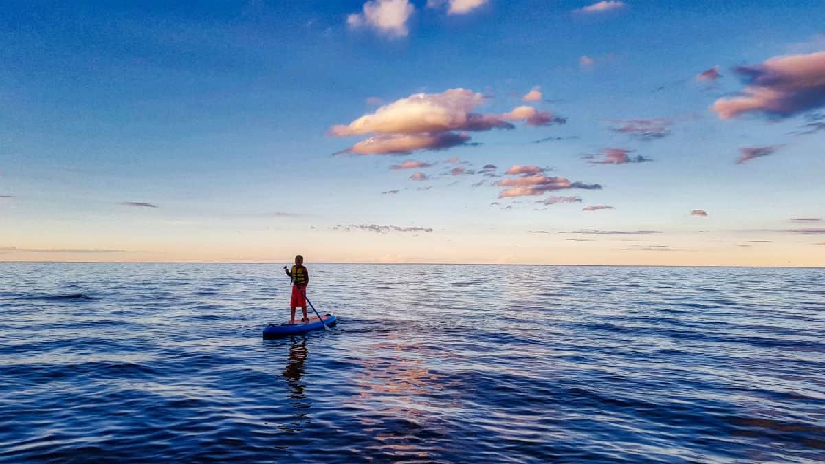 SUP in The Gulf of Riga