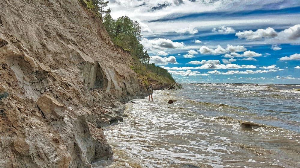 Steep Balltic Sea coast in Western Latvia