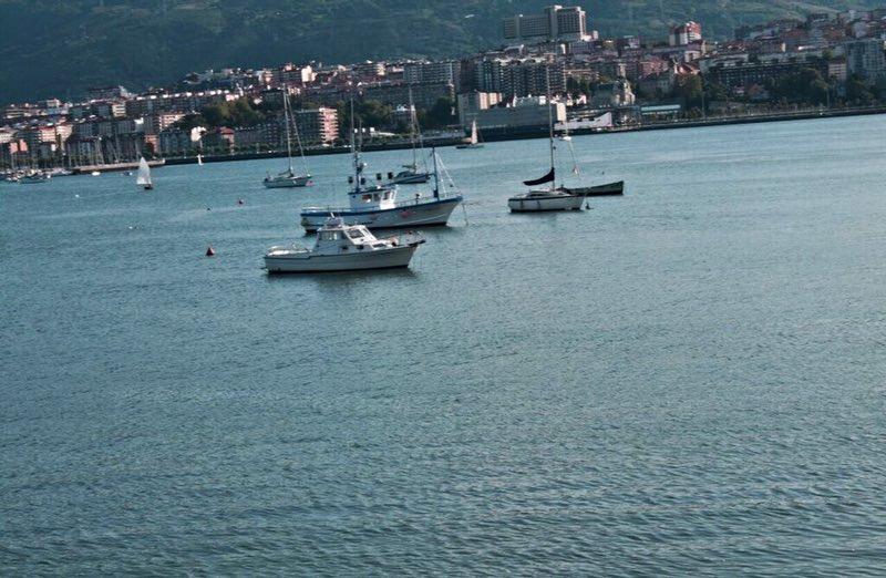fishing boats in the gulf - San Sebastian Spain