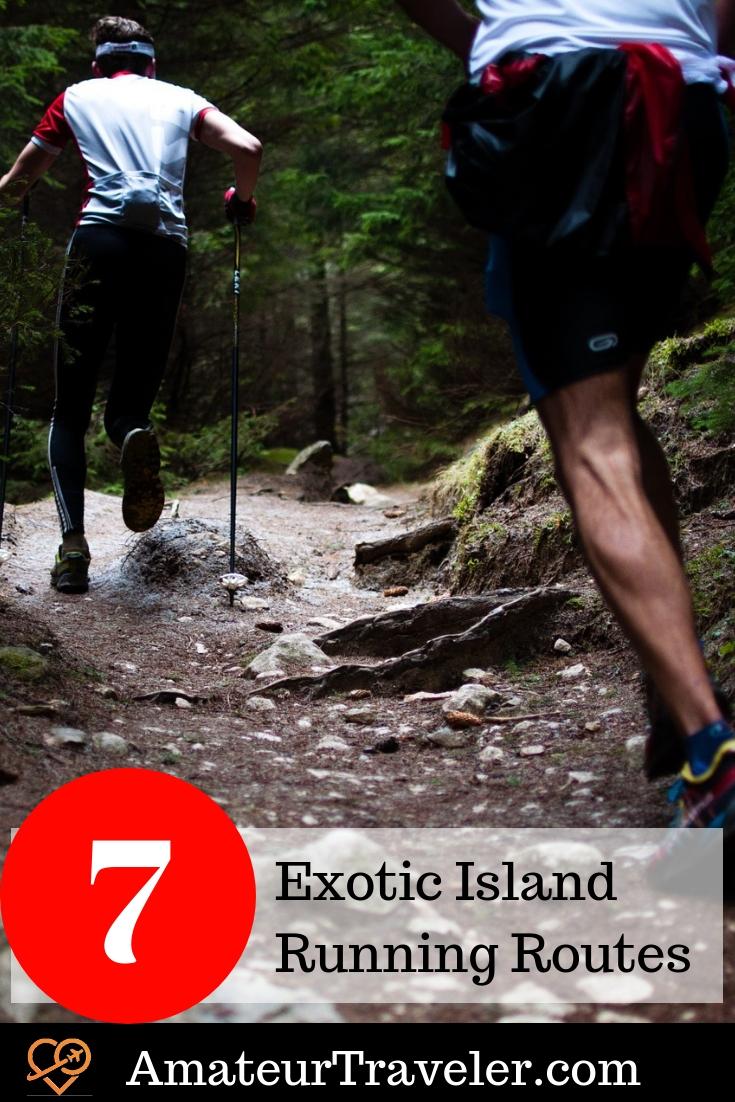 7 Exotic Island Running Routes #travel #running #hiking #trekking #tropics