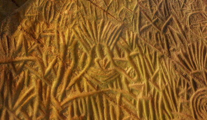 Wayanad India, petroglyph