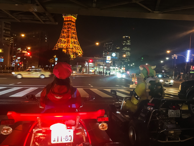 Mari Car At Night in Tokyo