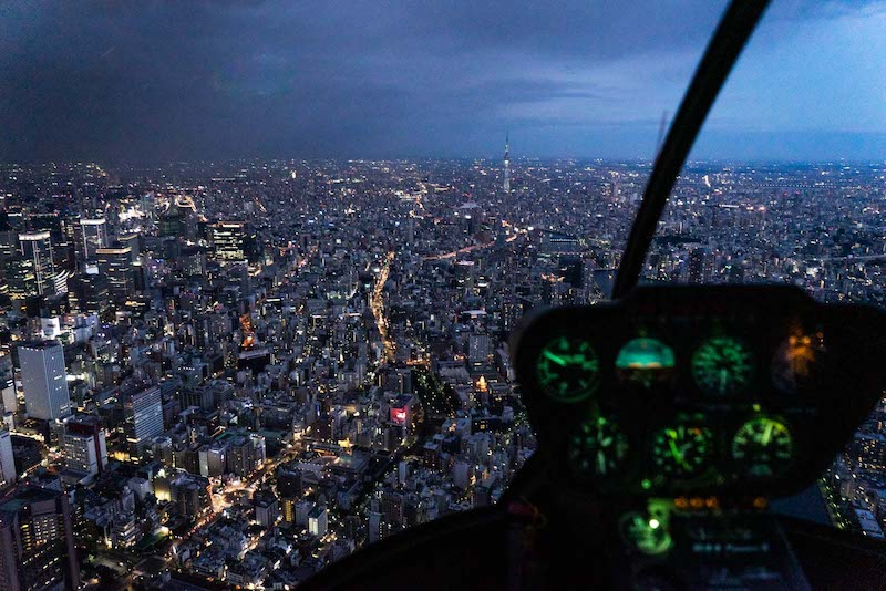 Tokyo from a helicopter