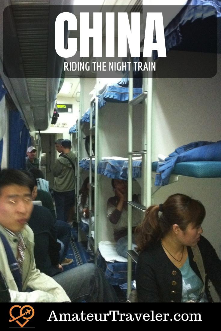 Riding the Night Train in China (with Video) #china #train #nighttrain #xian