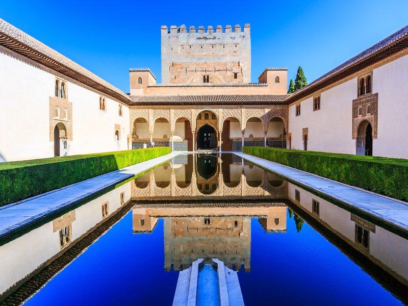 Alhambra Palace Garden - Granada, Spain
