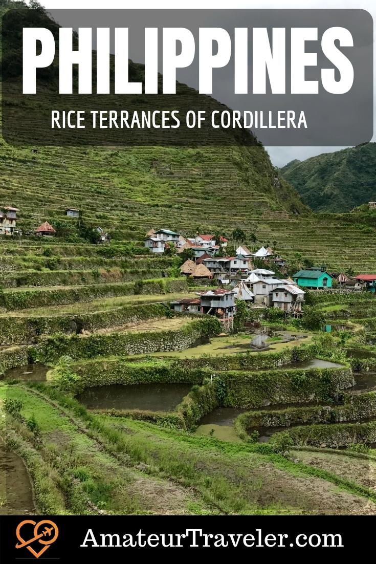 Rice Terraces of the Cordillera, Philippines UNESCO site | Batad Rice Terraces | Bangaan Rice Terraces #travel #trip #vacation #philippines #batad #rice #riceterraces #unesco #destinations #adventure #hiking #Bangaan