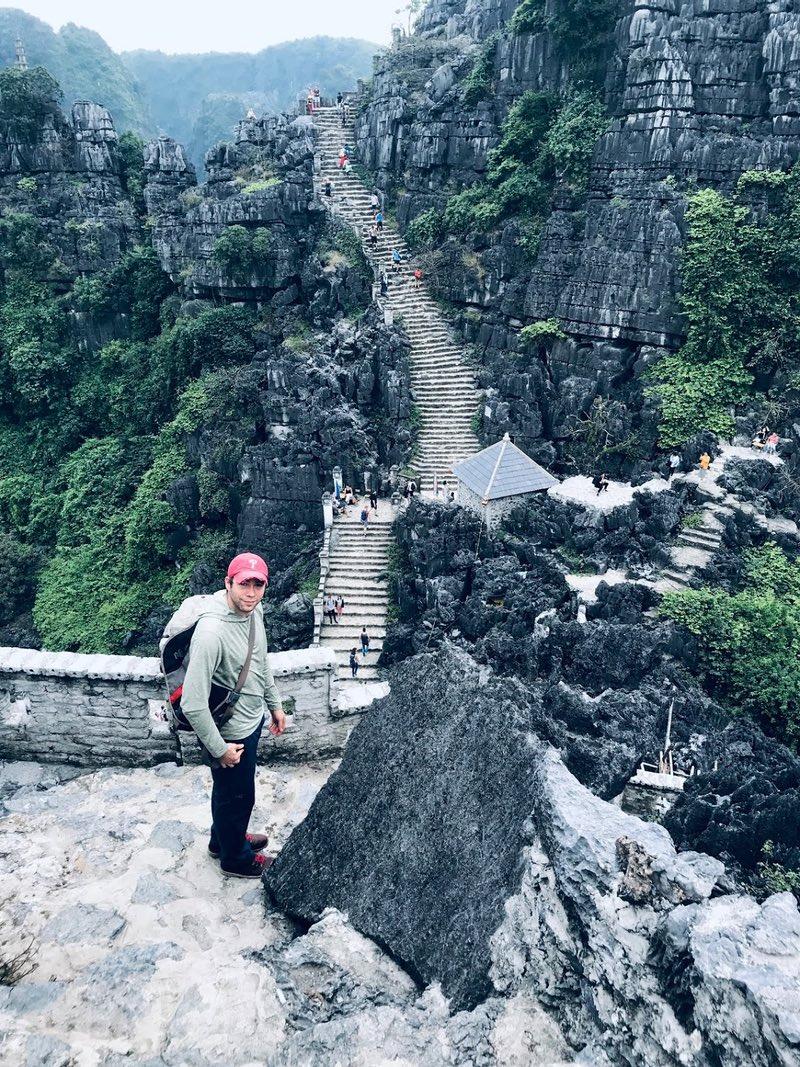 Stair Climb at Mua Cave